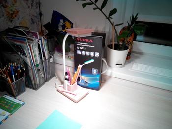 Светильник настольный SUPRA SL-TL321 на подставке, 5Вт, розовый [7806]