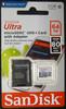 Карта памяти microSDXC UHS-I SANDISK Ultra 80 64 ГБ, 80 МБ/с, 533X, Class 10, SDSQUNS-064G-GN3MA,  1 шт., переходник SD вид 3