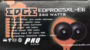 Колонки автомобильные EDGE EDPRO65XL-E6, среднечастотные, 260Вт, комплект 2 шт. [edpro65xl-e6(пара)]