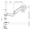 """Кронштейн для мониторов Ultramounts UM 702 черный 13""""-27"""" макс.9кг настольный поворот и наклон верт. вид 2"""