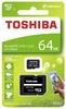 Карта памяти microSDXC UHS-I TOSHIBA M203 64 ГБ, 100 МБ/с, Class 10, THN-M203K0640EA,  1 шт., переходник SD вид 3