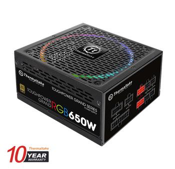 Блок питания THERMALTAKE Toughpower Grand RGB, 650Вт, 140мм, черный, retail [ps-tpg-0650dpcgeu-r]