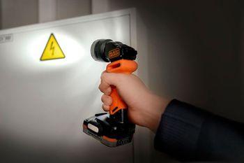 Аккумуляторный фонарь BLACK & DECKER BDCCF12N-XJ, оранжевый
