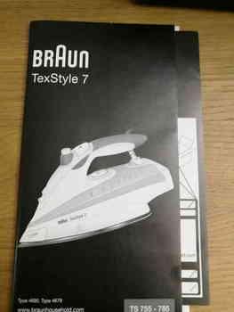 Утюг BRAUN TS775ETP, 2400Вт, серый/ белый [0×12711098]