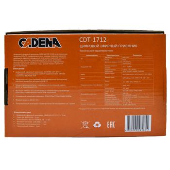 Ресивер DVB-T2CADENA CDT-1712, черный [046/91/00047719]