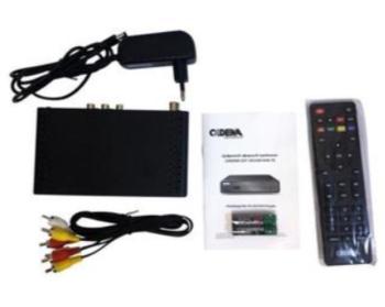 Ресивер DVB-T2CADENA CDT-1651SB, черный [046/91/00046475]