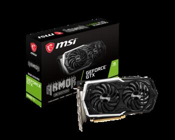 Видеокарта MSI nVidia GeForce GTX 1660TI , GeForce GTX 1660TiARMOR 6G OC, 6Гб, GDDR6, OC, Ret