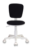 Кресло детское БЮРОКРАТ CH-W204NX, на колесиках, ткань, черный [ch-w204nx/26-28] вид 8