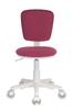 Кресло детское БЮРОКРАТ CH-W204NX, на колесиках, ткань, розовый [ch-w204nx/26-31] вид 8
