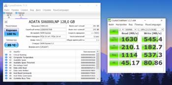 SSD накопитель A-DATA XPG SX6000Lite ASX6000LNP-128GT-C 128Гб, M.22280, PCI-E x4, NVMe