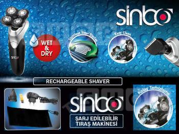 Электробритва SINBO SS4038, серебристый и черный