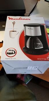 Кофеварка MOULINEX FG360830, капельная, черный [7211001550]