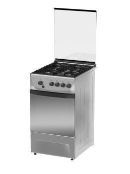 Газовая плита DARINA 1D1GM241014 Х, газовая духовка, нержавеющая сталь
