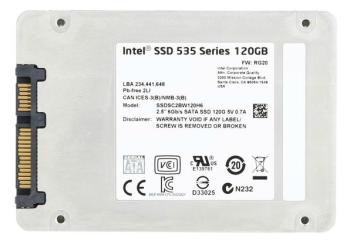 SSD накопитель INTEL 535 Series SSDSC2BW120H6R5 120Гб, 2.5, SATA III [ssdsc2bw120h6r5 940117]