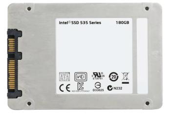 SSD накопитель INTEL 535 Series SSDSC2BW180H601 180Гб, 2.5, SATA III [ssdsc2bw180h601 939477]