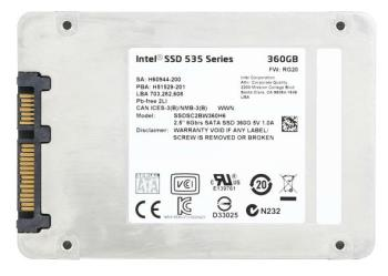 SSD накопитель INTEL 535 Series SSDSC2BW360H601 360Гб, 2.5, SATA III [ssdsc2bw360h601 939479]