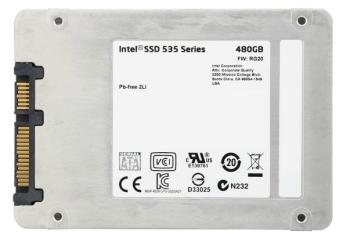 SSD накопитель INTEL 535 Series SSDSC2BW480H601 480Гб, 2.5, SATA III [ssdsc2bw480h601 939480]