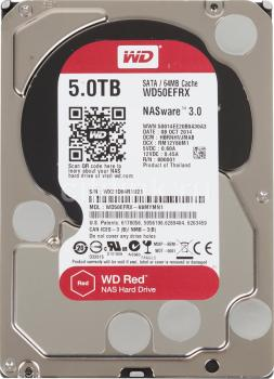 Жесткий диск WD Red WD50EFRX, 5Тб, HDD, SATA III, 3.5