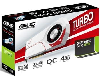 Видеокарта ASUS nVidia GeForce GTX 970 , TURBO-GTX970-OC-4GD5, 4Гб, GDDR5, OC, Ret