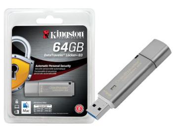 Флешка USB KINGSTON DataTraveler LPG364Гб, USB3.0, серебристый [dtlpg3/64gb]