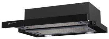Вытяжка встраиваемая Shindo Maya 501M B/BG черный/стекло черное управление: кнопочное (1 мотор)