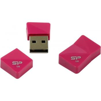 Флешка USB SILICON POWER Touch T0816Гб, USB2.0, розовый [sp016gbuf2t08v1h]