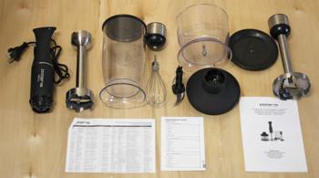 Блендер POLARIS PHB 1321L, погружной, черный/серебристый