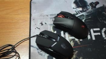 Мышь OKLICK 795G GHOST, игровая, оптическая, проводная, USB, черный [mw-1321]