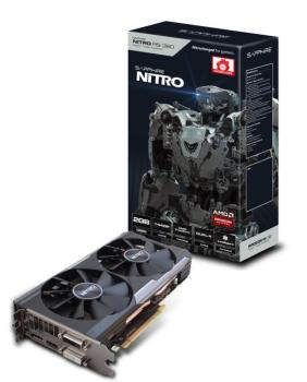 Видеокарта SAPPHIRE AMD Radeon R9380 , 11242-08-20G NITRO R9380DUAL-X OC (UEFI), 2Гб, GDDR5, OC, Ret