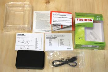 Внешний жесткий диск TOSHIBA Canvio Ready HDTP220EK3CA, 2Тб, черный