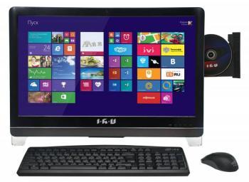 Моноблок IRU Home T230423.6Full HD i34160/4Gb/500Gb 7.2k/GT840M 2Gb/DVDRW/CR/noOS/kb/m/черный 19