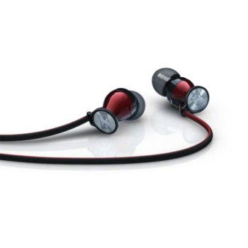 Гарнитура SENNHEISER MOMENTUM In-Ear M2IEi, для компьютера, вкладыши, красный / черный [506231]
