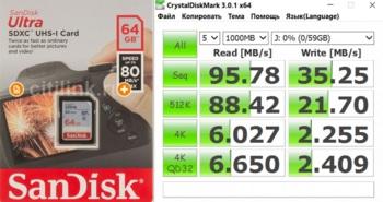 Карта памяти SDXC UHS-I SANDISK Ultra 8064 ГБ, 80 МБ/с, Class 10, SDSDUNC-064G-GN6IN, 1 шт.