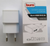Сетевое зарядное устройство BURO TJ-159w,  USB,  2.1A,  белый вид 8