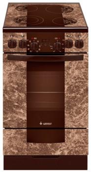Электрическая плита ГЕФЕСТ 5560-010001, стеклокерамика, коричневый