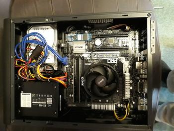 Корпус mATX AEROCOOL CS-101, Desktop, 400Вт, черный