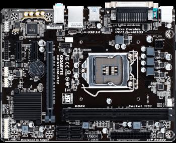 Материнская плата GIGABYTE GA-H110M-DS2, LGA 1151, Intel H110, mATX, Ret