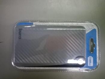 Внешний аккумулятор (Power Bank) BURO RA-11000, 11000мAч, серый