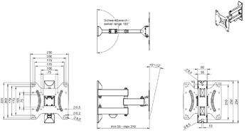 Кронштейн для телевизора Hama H-118101 черный 19-48 макс.20кг настенный поворот и наклон
