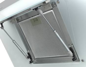 Вытяжка каминная Shindo Arktur 60W/WG 3ETC нержавеющая сталь/белое стекло управление: сенсорное (1