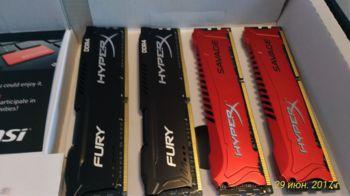 Модуль памяти KINGSTON HyperX FURY Black HX424C15FB3K2/16DDR4— 2x 8Гб 2400, DIMM, Ret
