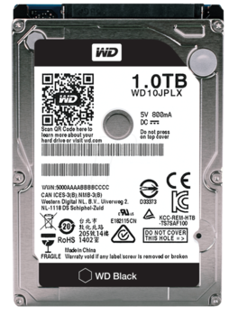 Жесткий диск WDBlack WD10JPLX, 1Тб, HDD, SATA III, 2.5
