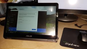 Ноутбук-трансформер ASUS Zenbook Flip UX360CA-C4112TS, 13.3, IPS, Intel Core M56Y541.1ГГц, 8Гб, 256Гб SSD, Intel HDGraphics 515, Windows 10, 90NB0BA2-M03510, серый