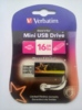 Флешка USB VERBATIM Mini Neon Edition 16Гб, USB2.0, оранжевый и рисунок [49394] вид 3