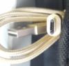 Кабель BURO Reversible Braided,  micro USB B (m),  USB A(m),  1м,  золотистый [bhp microusb 1m braided] вид 4