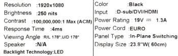 Монитор ACER G247HYLbidx 23.8, черный и серебристый [um.qg7ee.010/009]