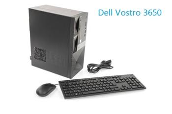 Компьютер DELL Vostro 3650, Intel Core i36100, DDR34Гб, 500Гб, Intel HDGraphics 530, DVD-RW, CR, Windows 10Home, черный [3650-0274]