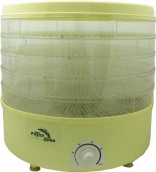 Сушилка для овощей и фруктов РОТОР Дива СШ-007-06, прозрачный, 5 поддонов