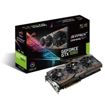 Видеокарта ASUS nVidia GeForce GTX 1060 , STRIX-GTX1060-6G-GAMING, 6Гб, GDDR5, OC, Ret