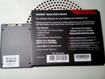 SSD накопитель AMD Radeon R3R3SL120G 120Гб, 2.5, SATA III
